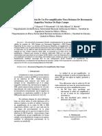 Diseño e Implementación De Un Preamplificador Para Sistemas de Resonancia Magnética Nuclear De Bajo Campo