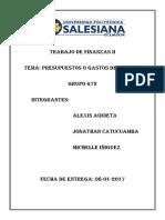 Presupuestos o Gastos de Capital (Aquieta ; Catucuamba ; Iñiguez)