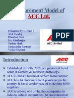 Procurement ACC Ltd
