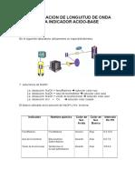 Determinacion de Longuitud de Onda Para Indicador Acido 6