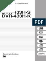 Pioneer Dvr-433 Hs