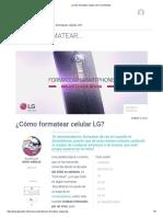 ¿Cómo Formatear Celular LG_ _ LG Mobile