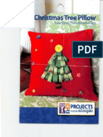 Easy Ribbon Christmas Tree Pillow DIY