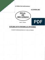 UTBM Mecanique Generale Mecanique Des Fluides Et Thermodynamique 2007 GM