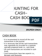 Accounting for Cash- Cash Book