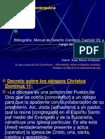 DCI 18. Diocesis  derecho canonico ucsg