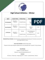 winter high school athletics