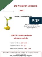 Aula 1 - Introdução a Genética Molecular