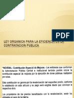 Ley Eficiencia Contratación Publica