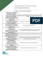 Lista de Trabalhos Aprovados EIGEDIN II