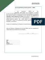 Cargo de Entrega de MSDS.docx