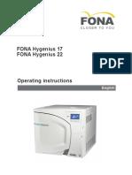 Fona Hygenius Operator's Manual