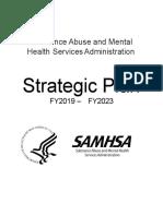 Samhsa Strategic Plan FY 2019-2023
