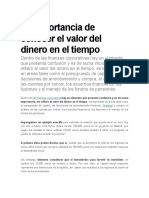 FINANZAS Valor Del Dinero en El Tiempo