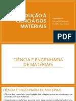 Aula 01 - Introdução à Ciência Dos Materiais