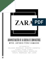 Administracion de Cadena de Suministro de ZARA