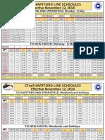 CTRAIL schedule