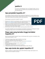Pengertian Hepatitis A