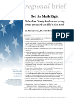 Regional Brief 85 Get the Math Right