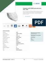 Lámpara LED PAR56 Para Piscinas, G53, 30W (1)