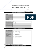 Formular de Aplicatie Proiecte Educative
