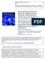 CATALYST_International Journal of Polymeric Materials Volume -- Synthesis of Polyurethanes From Solvolysis Lignin Using a Polymerization c