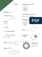 Fórmulas das principais áreas