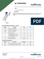 Datasheet transistor 2N2222A