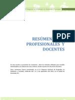 RESÚMENES  DE DOCENTES