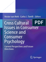 Cross Cultural issues in consumer science and consumer psychology