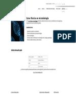 Curso Técnico en Microbiología - Formación Académica