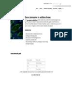Curso Laboratorio de Análisis Clínicos - Formación Académica
