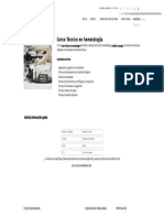 Curso Técnico en Hematología - Formación Académica