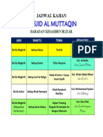 Jadwal Kajian Al Muttaqin