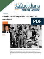 Chi Sa, Ha Parlato. Dagli Archivi del PCI La Verità Sui Crimini Rossi