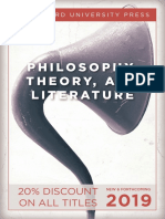 Philosophy and Literature Catalog 2019 (Stanford University Press)