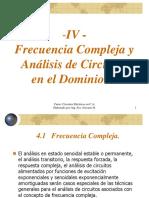 TEMA IV - Teor%EDa CA - Frecuencia Compleja y an%E1lisis de Circuitos en El Domino S