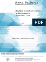 2017-2018 Louisiana Department of Education School and Center Performance Briefing