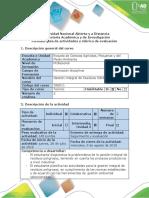 Guía de actividades y rúbrica de evaluación - Fase 4 - Formulación