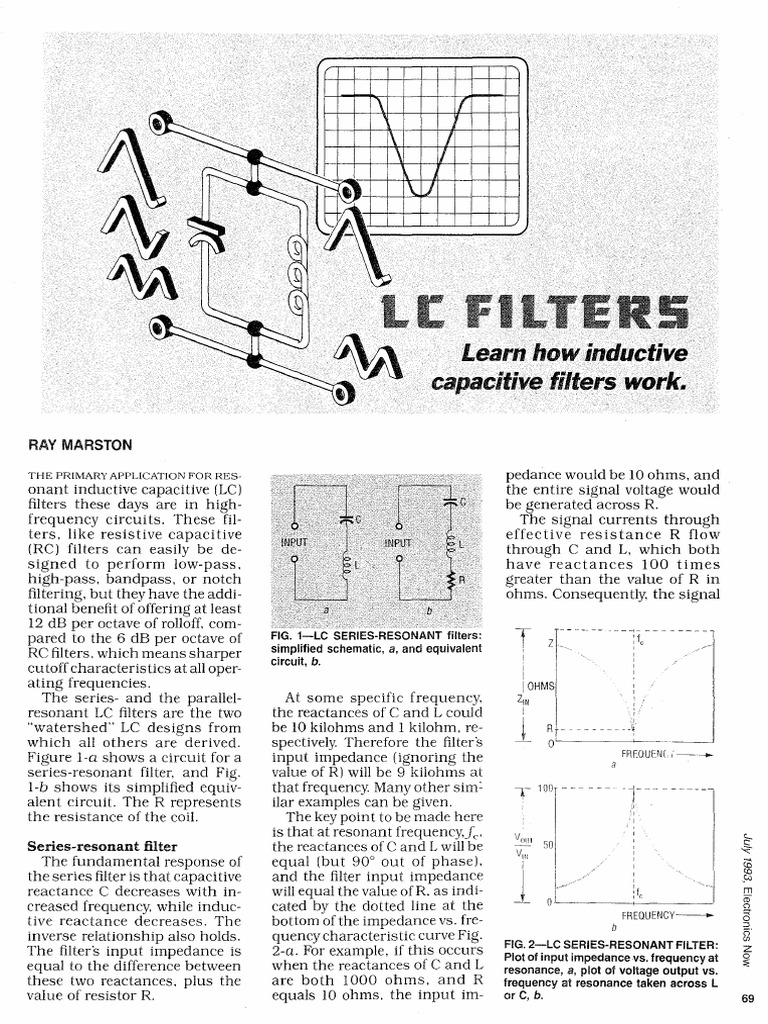 LC Filters pdf | Electronic Filter | Low Pass Filter