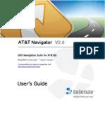 AT&T Navigator v2.0 User's Guide for Blackberry Touch-Screen