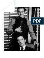Robert de Niro and Al Pacino on the Set of the Godfather Part II, 1974.