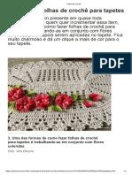 Como Fazer Folhas de Crochê Para Tapetes