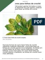 Formatos e Cores Para Folhas de Crochê