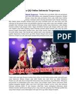 Agen Dewa QQ Online Indonesia Terpercaya   Warungpoker99