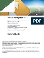 AT&T Navigator v1.3 User's Guide for Windows Mobile