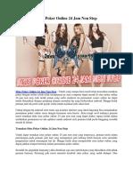 Situs Poker Online 24 Jam Non Stop | Dewapoker99