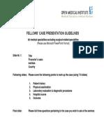 Case Presentation Guideline All Medical