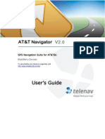 AT&T Navigator Version 2.0 for BlackBerry phones