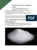 Glutamato Monosódico Articulo